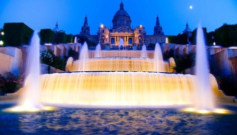 Las fuentes que llevan a Montjuïc